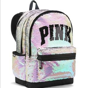 🔥🎒 VS PINK Rare Sequin Backpack 🎒 🔥